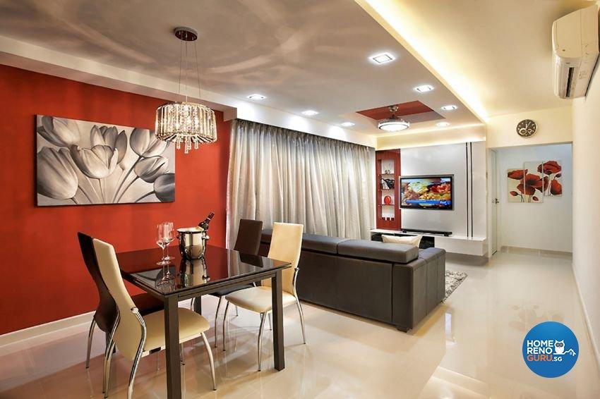 Contemporary, Modern Design - Living Room - HDB 4 Room - Design by Artrend Design