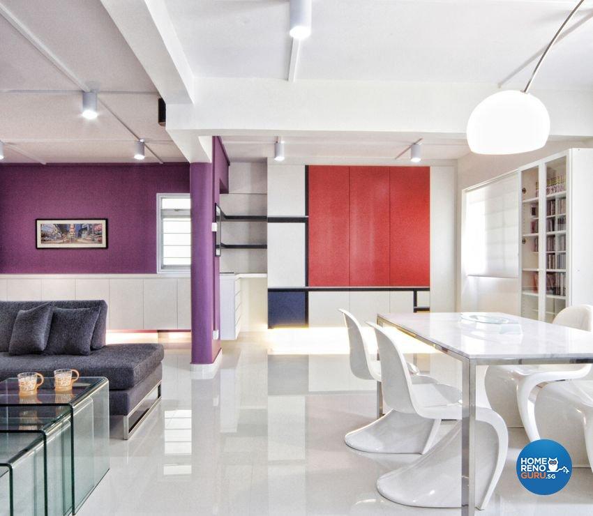Contemporary, Minimalist, Modern Design - Living Room - HDB 5 Room - Design  by