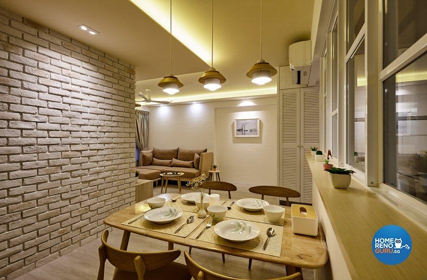 Classical, Scandinavian Design - Dining Room - HDB 4 Room - Design by Artrend Design