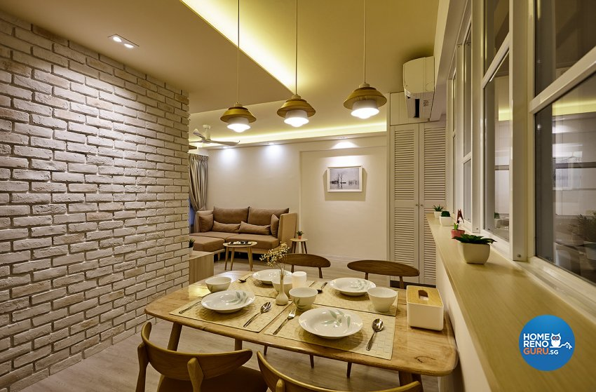 Classical, Scandinavian Design - Dining Room - HDB 4 Room - Design by Artrend Design