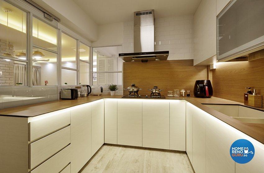 Classical, Scandinavian Design - Kitchen - HDB 4 Room - Design by Artrend Design