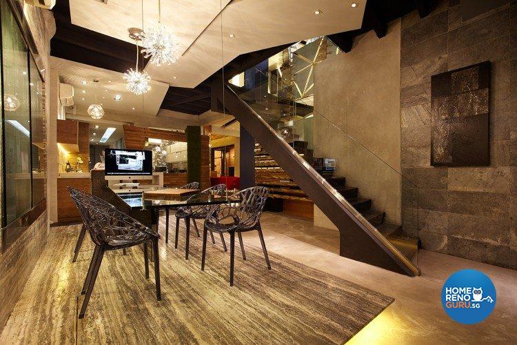 Classical, Industrial, Modern Design - Dining Room - Landed House - Design by Artrend Design