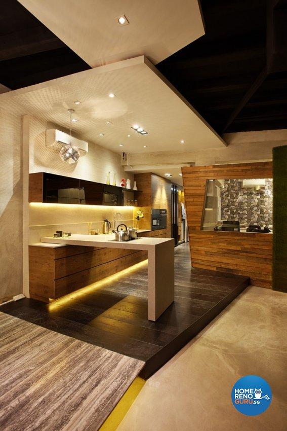 Classical, Industrial, Modern Design - Kitchen - Landed House - Design by Artrend Design