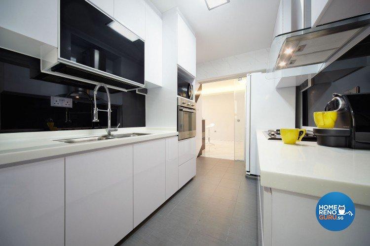 Classical, Minimalist, Modern Design - Kitchen - HDB 5 Room - Design by Artrend Design