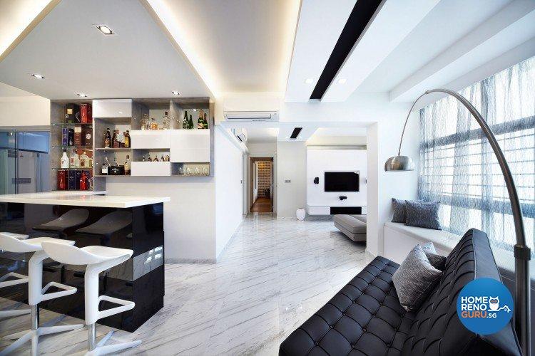 Classical, Minimalist, Modern Design - Living Room - HDB 5 Room - Design by Artrend Design