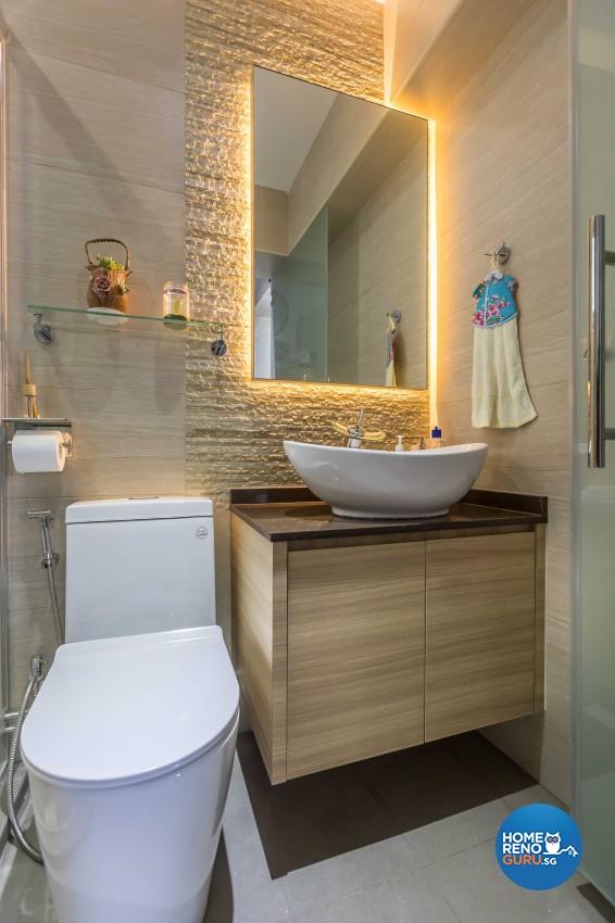 Modern, Victorian Design - Bathroom - HDB 4 Room - Design by ARTS 2 DESIGN STUDIO PTE LTD