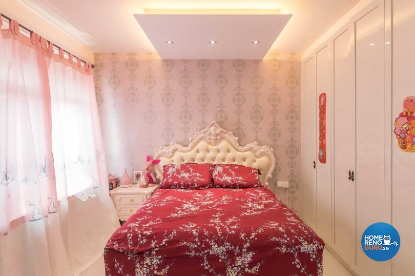 Modern, Victorian Design - Bedroom - HDB 4 Room - Design by ARTS 2 DESIGN STUDIO PTE LTD