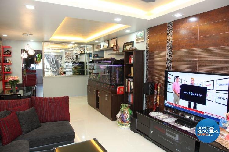 Contemporary, Retro Design - Living Room - HDB 5 Room - Design by Arts Advance Pte Ltd