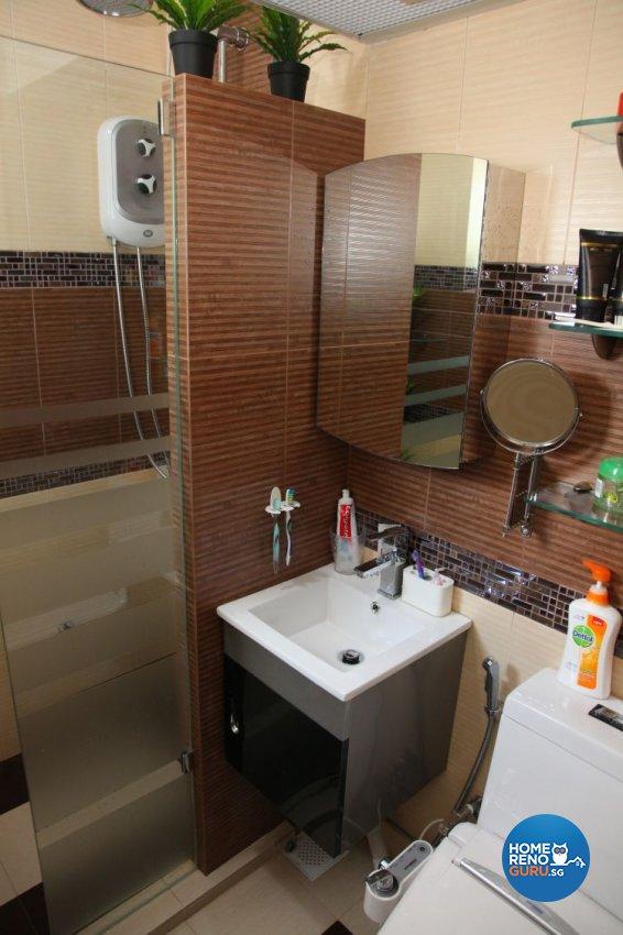 Contemporary, Retro Design - Bathroom - HDB 5 Room - Design by Arts Advance Pte Ltd
