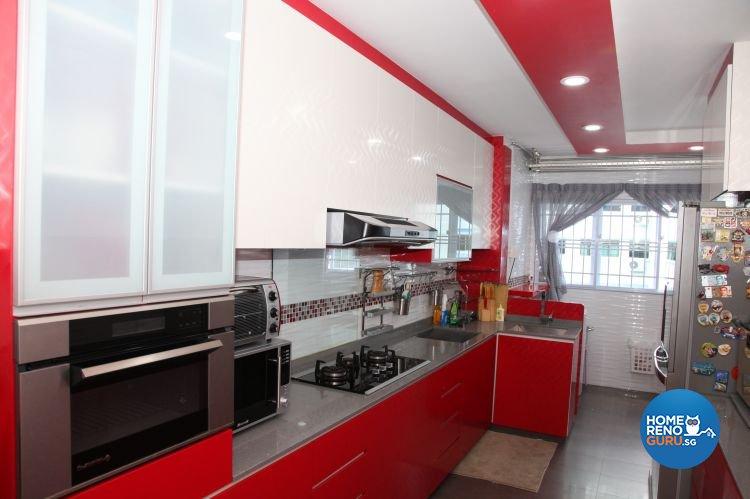 Contemporary, Retro Design - Kitchen - HDB 5 Room - Design by Arts Advance Pte Ltd