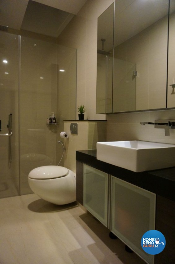 Contemporary, Minimalist, Modern Design - Bathroom - Landed House - Design by AS Palace Design