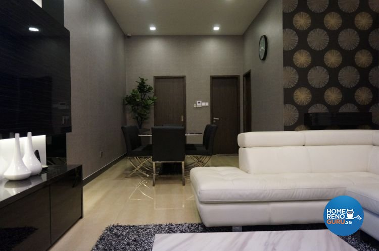 Contemporary, Minimalist, Modern Design - Living Room - Landed House - Design by AS Palace Design