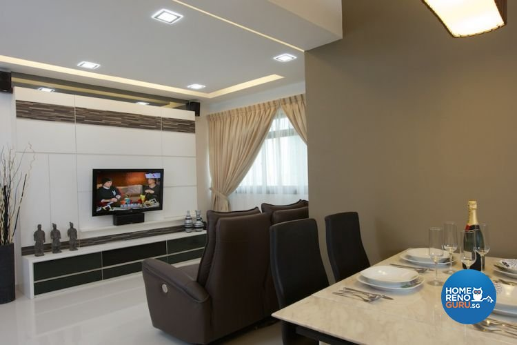 Classical, Contemporary, Modern Design - Dining Room - HDB 5 Room - Design by Asialand ID Pte Ltd