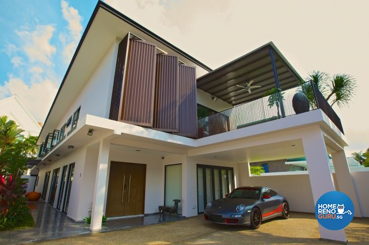 Classical, Contemporary, Modern Design - Balcony - Landed House - Design by Asialand ID Pte Ltd