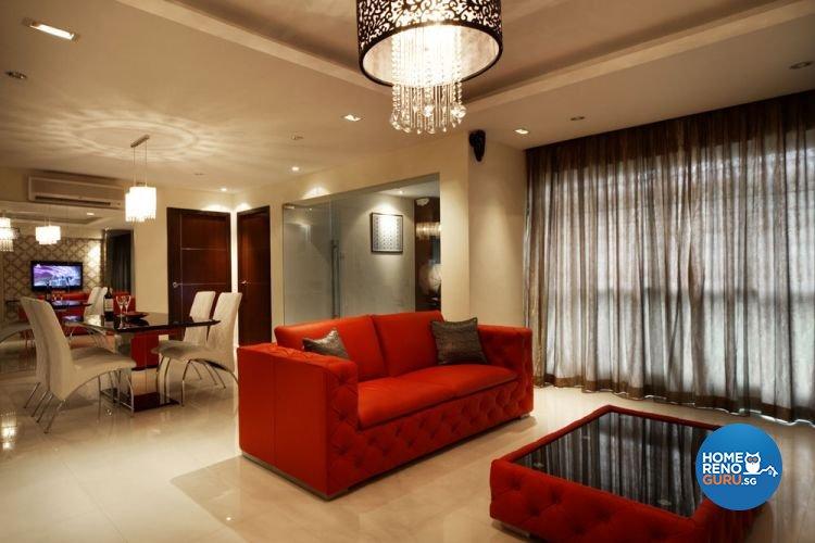 Contemporary, Modern, Victorian Design - Living Room - HDB 5 Room - Design by Aspero Design