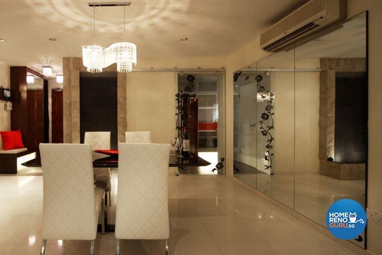Contemporary, Modern, Victorian Design - Dining Room - HDB 5 Room - Design by Aspero Design