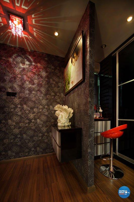 Contemporary, Modern, Victorian Design - Entertainment Room - HDB 5 Room - Design by Aspero Design