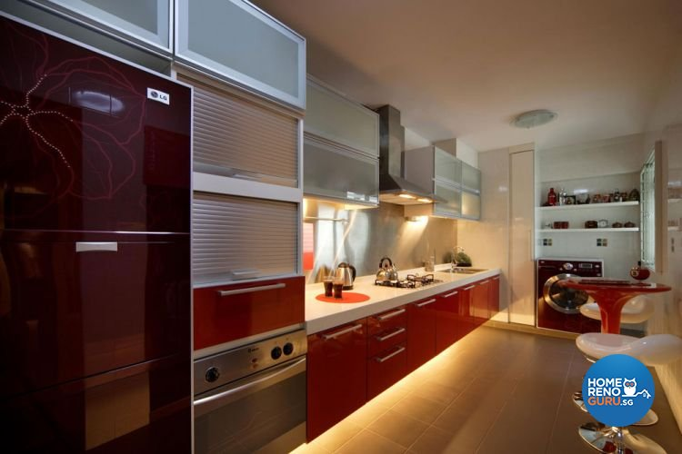 Contemporary, Modern, Victorian Design - Kitchen - HDB 5 Room - Design by Aspero Design
