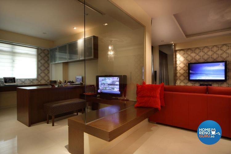 Contemporary, Modern, Victorian Design - Study Room - HDB 5 Room - Design by Aspero Design