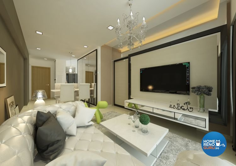 Contemporary, Minimalist, Modern Design - Living Room - Condominium - Design  by Atelier Interior