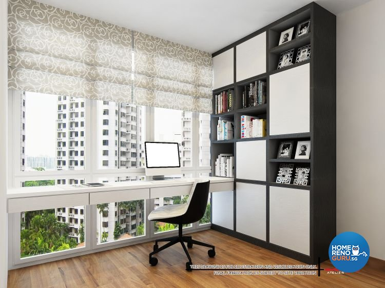 Contemporary, Modern Design - Study Room - Condominium - Design by Atelier  Interior Pte Ltd