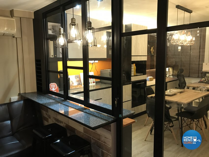 Eclectic, Industrial, Modern Design - Study Room - Office - Design by Aurora Renovation Pte Ltd