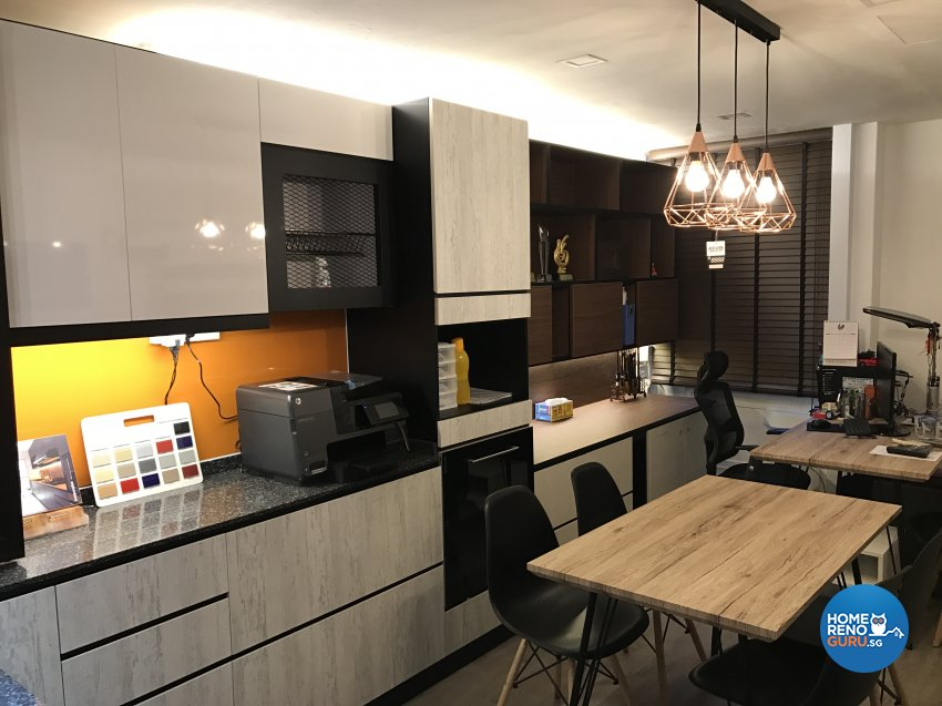 Eclectic, Industrial, Modern Design - Kitchen - Office - Design by Aurora Renovation Pte Ltd