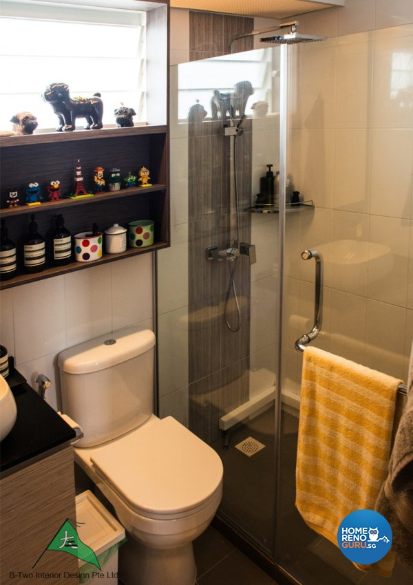Country, Industrial, Retro Design - Bathroom - HDB 4 Room - Design by B-Two Interior Design Pte Ltd