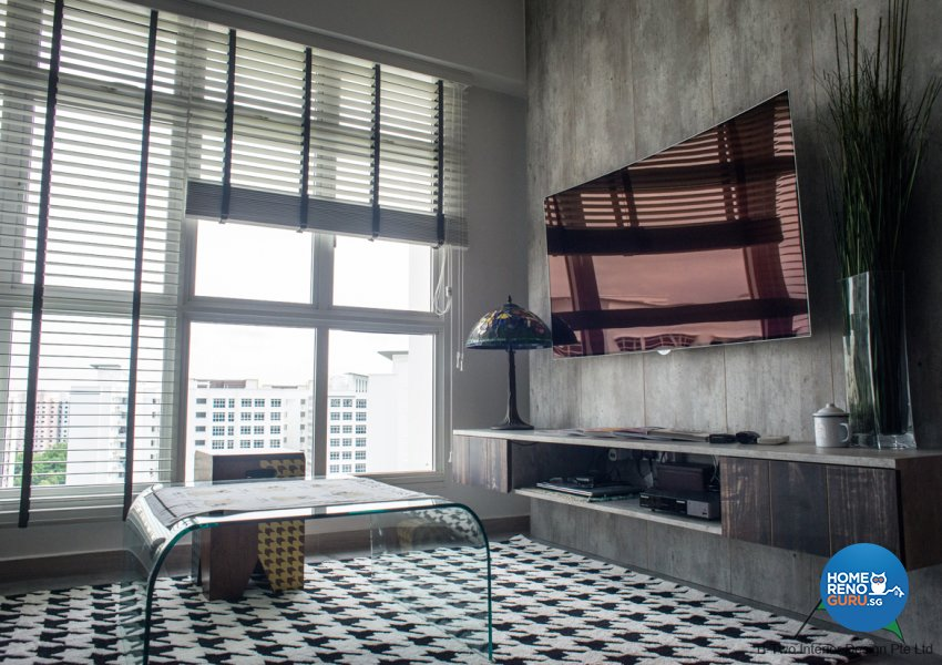 Country, Industrial, Retro Design - Living Room - HDB 4 Room - Design by B-Two Interior Design Pte Ltd