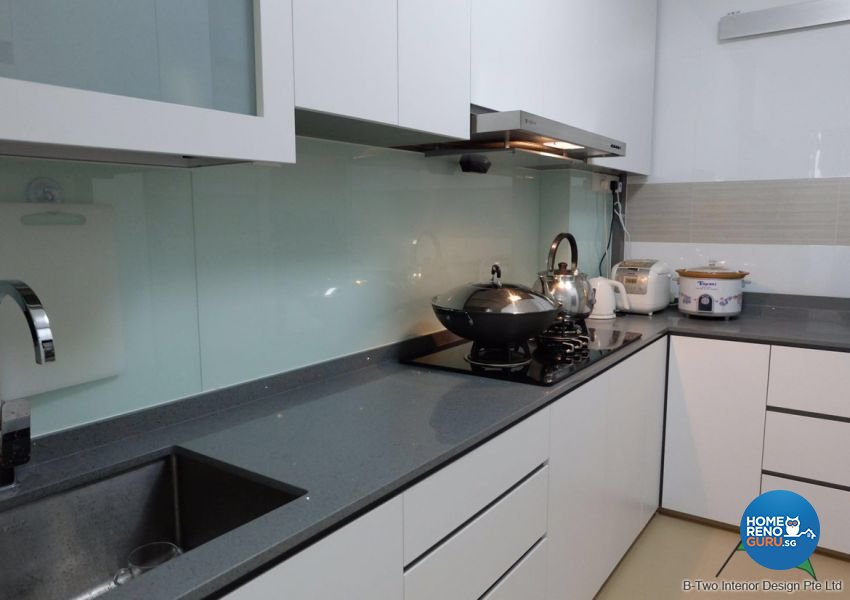 Contemporary, Modern Design - Kitchen - HDB 4 Room - Design by B-Two Interior Design Pte Ltd