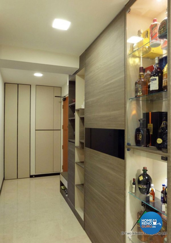 Contemporary, Modern Design - Living Room - HDB 4 Room - Design by B-Two Interior Design Pte Ltd