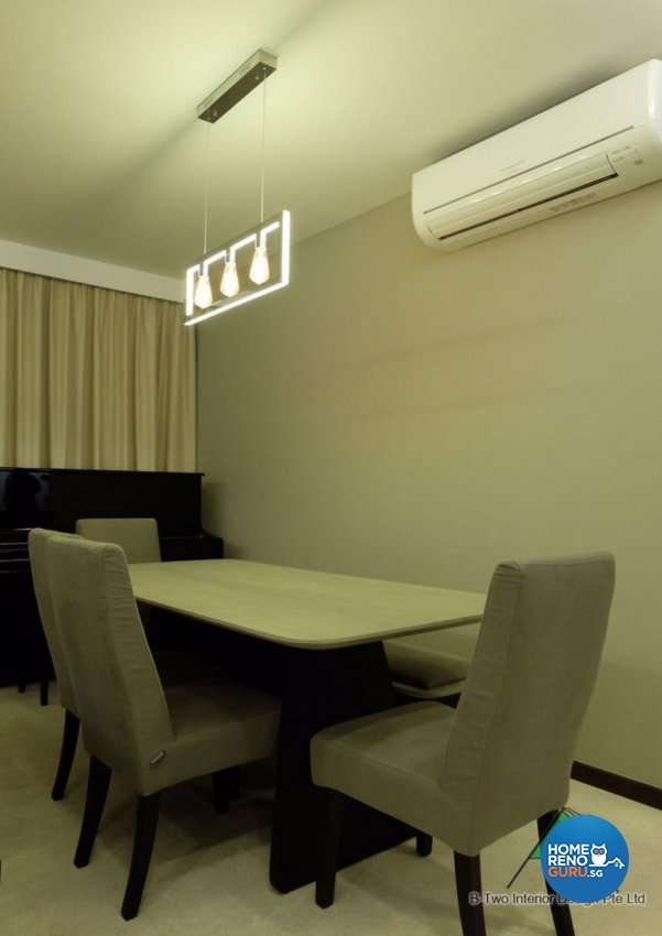 Contemporary, Modern Design - Dining Room - HDB 4 Room - Design by B-Two Interior Design Pte Ltd