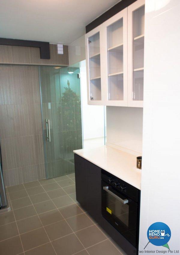 Modern Design - Kitchen - HDB 5 Room - Design by B-Two Interior Design Pte Ltd