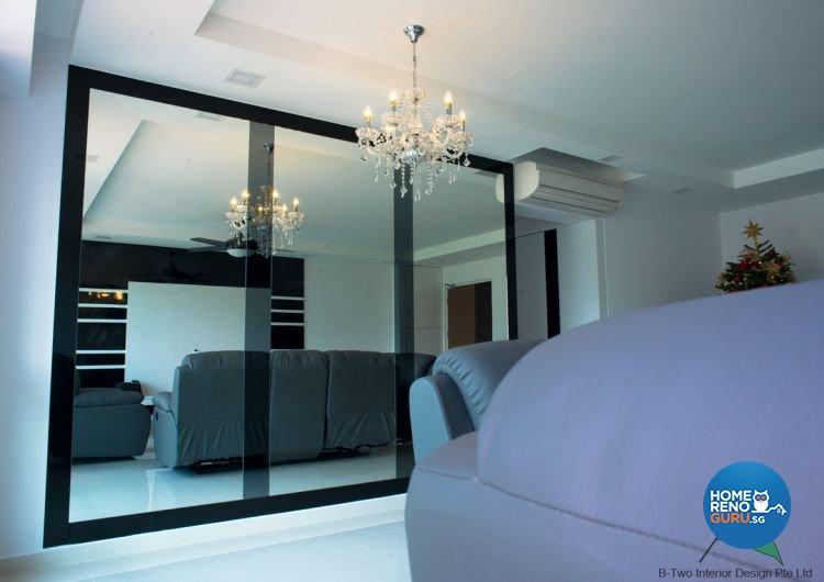 Modern Design - Living Room - HDB 5 Room - Design by B-Two Interior Design Pte Ltd