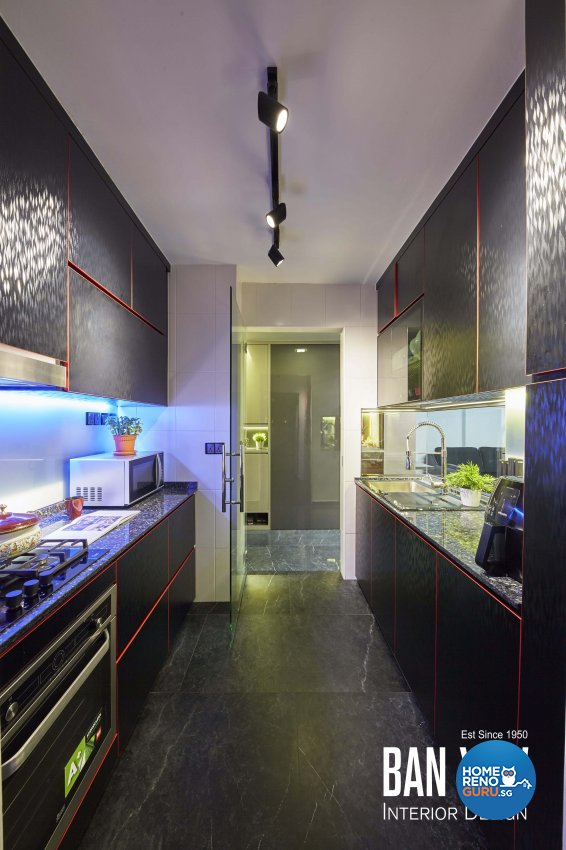 Modern, Retro, Resort Design - Kitchen - HDB 3 Room - Design by Ban Yew Interior Design Pte Ltd