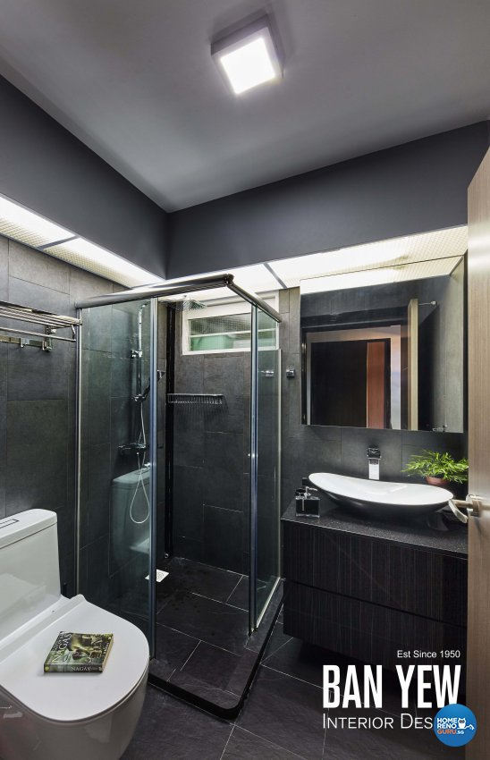 Modern, Retro, Resort Design - Bathroom - HDB 3 Room - Design by Ban Yew Interior Design Pte Ltd
