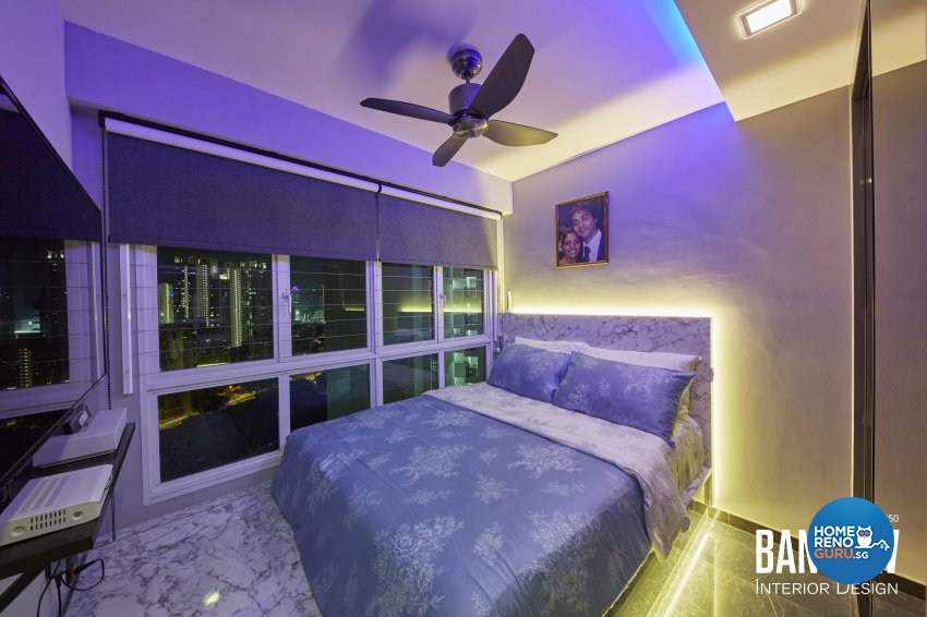 Modern, Retro, Resort Design - Bedroom - HDB 3 Room - Design by Ban Yew Interior Design Pte Ltd
