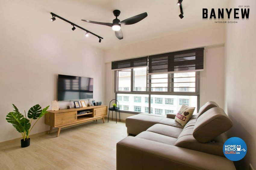 Classical, Modern Design - Living Room - HDB 4 Room - Design by Ban Yew Interior Design Pte Ltd