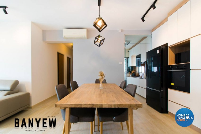Classical, Modern Design - Dining Room - HDB 4 Room - Design by Ban Yew Interior Design Pte Ltd