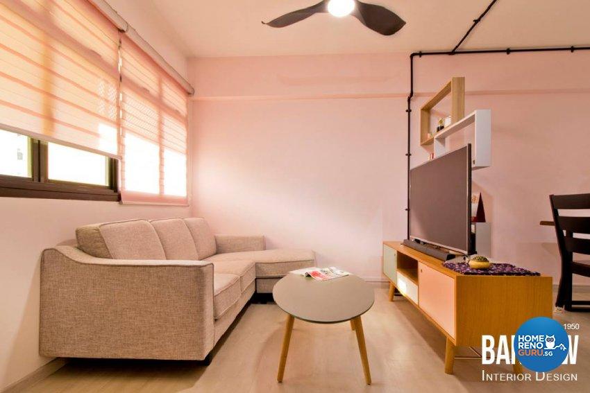 Industrial, Scandinavian Design - Living Room - HDB 4 Room - Design by Ban Yew Interior Design Pte Ltd