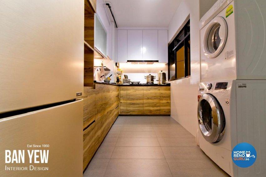 Industrial, Scandinavian Design - Kitchen - HDB 4 Room - Design by Ban Yew Interior Design Pte Ltd
