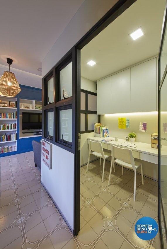 Classical, Modern, Vintage Design - Study Room - HDB 4 Room - Design by Ban Yew Interior Design Pte Ltd
