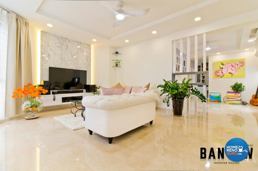 Country, Modern, Others Design - Living Room - Condominium - Design by Ban Yew Interior Design Pte Ltd