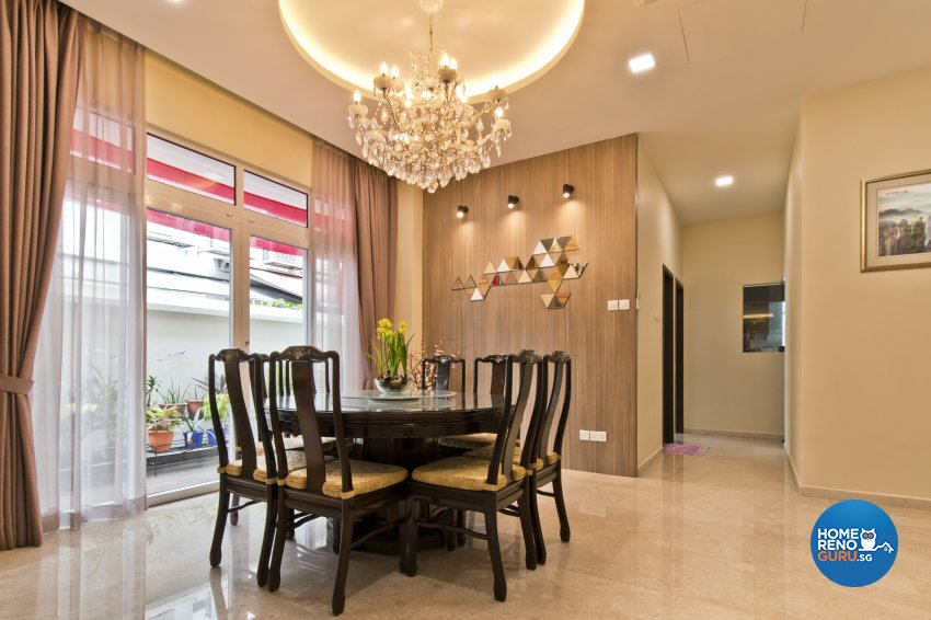Classical, Modern, Resort Design - Dining Room - Landed House - Design by Ban Yew Interior Design Pte Ltd