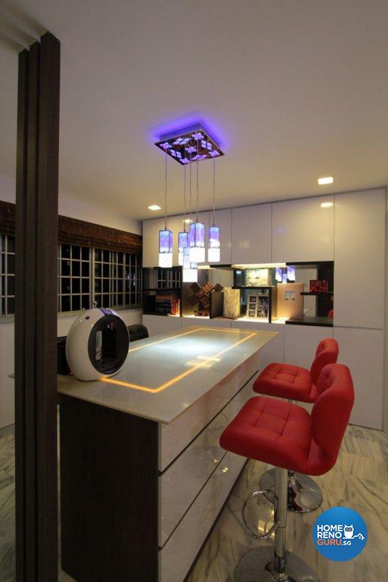 Contemporary, Modern Design - Dining Room - HDB 5 Room - Design by Beaux Monde Pte Ltd