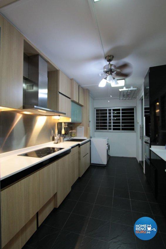Contemporary, Modern Design - Kitchen - HDB 5 Room - Design by Beaux Monde Pte Ltd