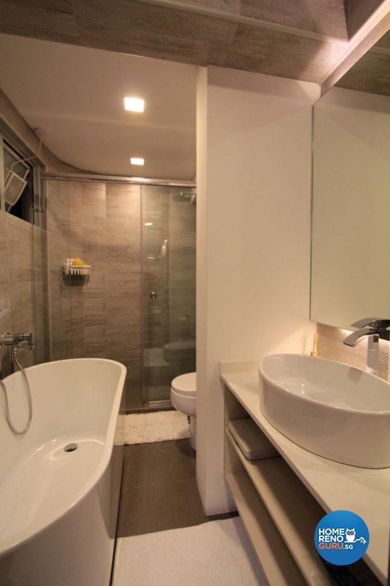 Contemporary, Modern Design - Bathroom - HDB 5 Room - Design by Beaux Monde Pte Ltd