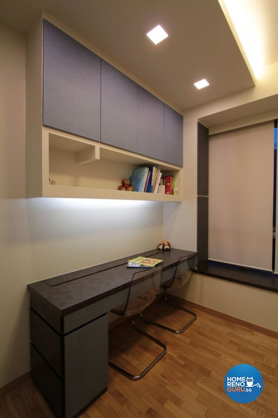 Contemporary, Industrial, Modern Design - Study Room - Condominium - Design by Beaux Monde Pte Ltd