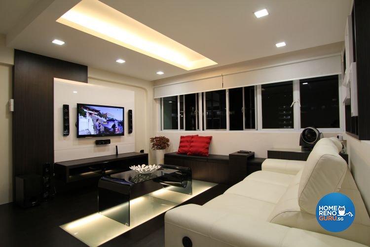 Contemporary, Minimalist, Modern Design - Living Room - HDB 4 Room - Design by Beaux Monde Pte Ltd