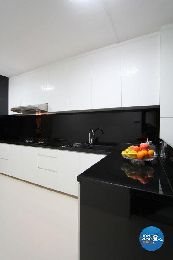 Contemporary, Minimalist, Modern Design - Kitchen - HDB 4 Room - Design by Beaux Monde Pte Ltd